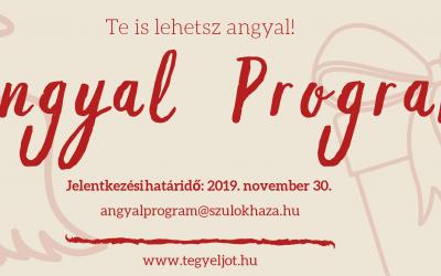 Jelentkezés az Angyal programba – November 30-ig!